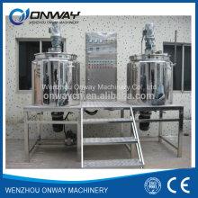 Pl Edelstahl-Jacke Emulgierung Mischen Tank Öl Mischen Maschine Mixer Zucker-Lösung Kosmetische Mischmaschine