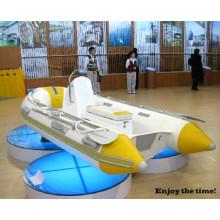Barco a remo de fibra de vidro de alta qualidade Barco inflável de costela pequena