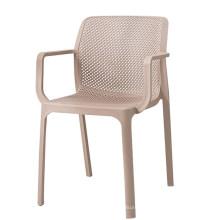 Apoyabrazos huecos plásticos de alta calidad creativos baratos al por mayor que cenan la silla