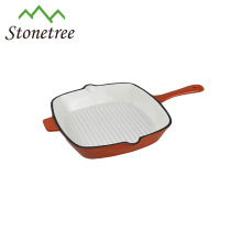 Wholesale Pre-seasoned Korean BBQ Cast Iron Square Grill Griddle Pan