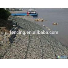 O banco de rio galvanizado protege a cesta do gabion / rede de pedra da gaiola