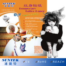 Temporary Tattoos Water Transfer Paper Made in Inkjet Laser Printer