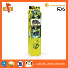 OEM laminated Plastic packaging biodegradable side gusset empty tea bag