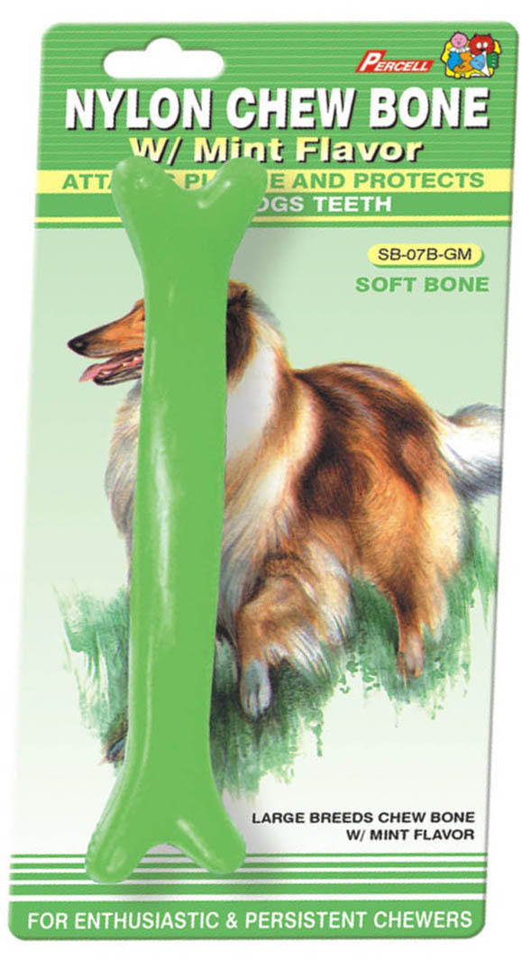 Soft Nylon Chew Bone Mint Scent Large