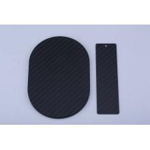 Peças personalizadas da motocicleta da folha da fibra do carbono do corte do CNC