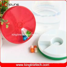 Caixa de comprimidos redonda de 7 dias (KL-9067)