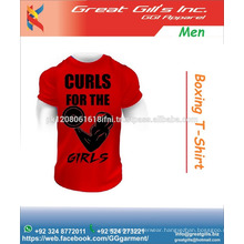 red good quality cotton fabric casual t shirts