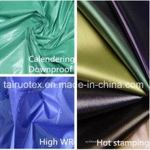 Tela de nylon de 100% com o plutônio revestido para a tela do Downjacket