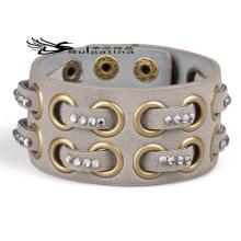 Braceletes de couro de punho para homens, braceletes de punho de moda 2014 Artigos de presente artesanal de design novo para marido