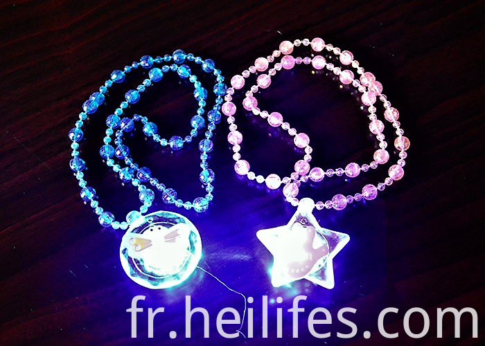 LEd Light Toys for Kids of Necklace