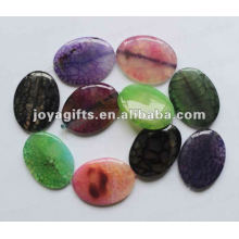 40 * 30 * 8mm d'agate ovale perles
