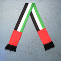 Weicher gestrickter Polyester-Transferdruck UAE FLag National Day Celebrate Scarf