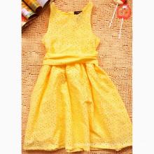 Nuevo vestido de verano amarillo para niñas Vestido de princesa de moda