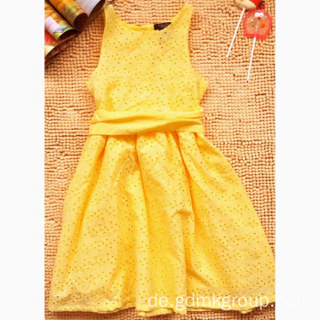 Mädchen New Yellow Summer Dress Modische Prinzessin Kleid