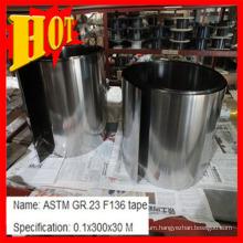 ASTM F136 Gr 23 0.1mm Titanium Tape/Strip Baoji China