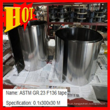 Fita Titanium de ASTM F136 Gr 23 0.1mm / tira Baoji China