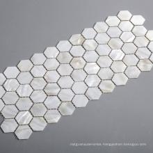 Hot-sale White Hexagon Seashell Backsplash Mosaic Tiles