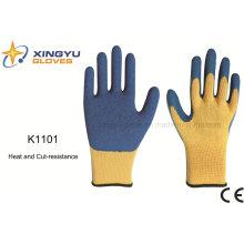 10g Meta-Aramid Fibre Latex Crinkle Heat&Cut Resistance Safety Work Glove (K1101)