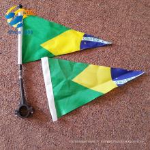 en gros personnalisé triangle fanion drapeaux vélo drapeaux