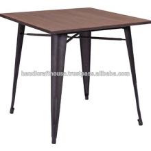 Table de bar en métal industriel en bois