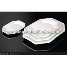 durable white hotel porcelain dinner plate P0498