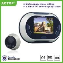 Sonnette vidéo numérique de 3,5 pouces pour la maison