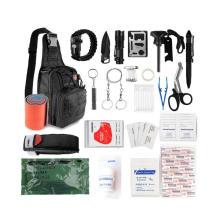 2021 New Gift Sling Bag Tactical Tool Survival Kit ,Emergency Survival Trauma Kit Camping EDC Gear Kit
