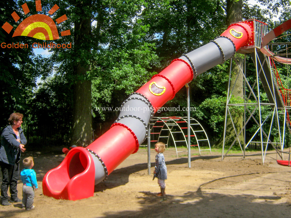 backyard playground tube slide