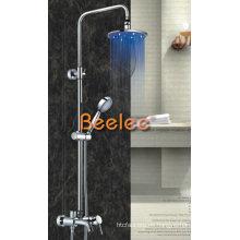 Grifo de ducha de lluvia LED grifo de latón con ducha de mango