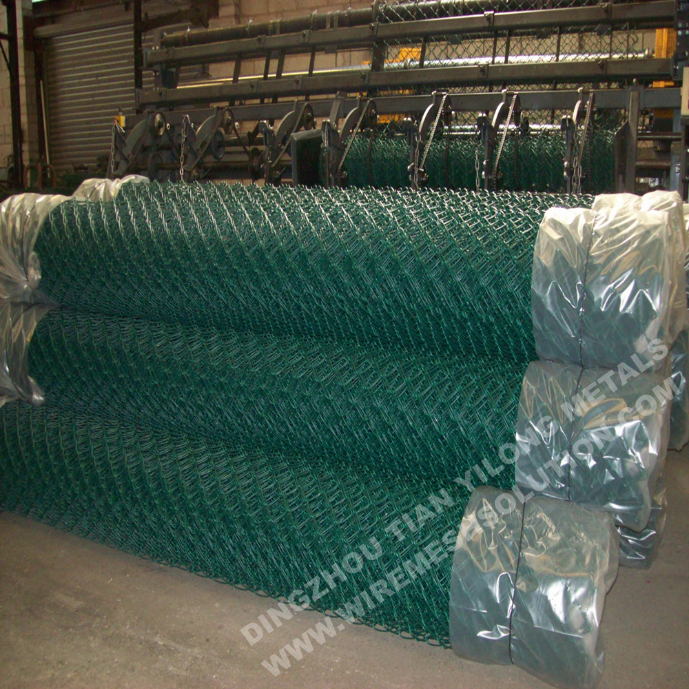 PVC Coated Chain Link Mesh Fence para jardinagem