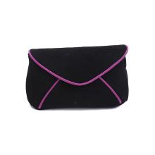 High Quality Neoprene Fabric Purple Cosmetic Bags