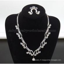 Collier de perles de verre de conception gracieuse de 2014