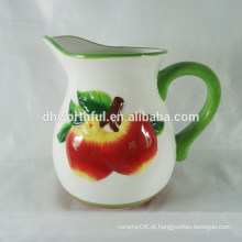 Jarra de leite de maçã de cerâmica quente venda