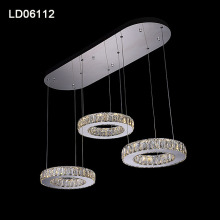 Led modern crystal pendant lamp chandelier hanging