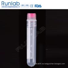 Vial criogénica de fondo redondo de rosca interna de 4 ml con sello de arandela de silicona