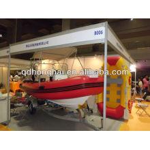 inflatable RIB new fiberglass boat