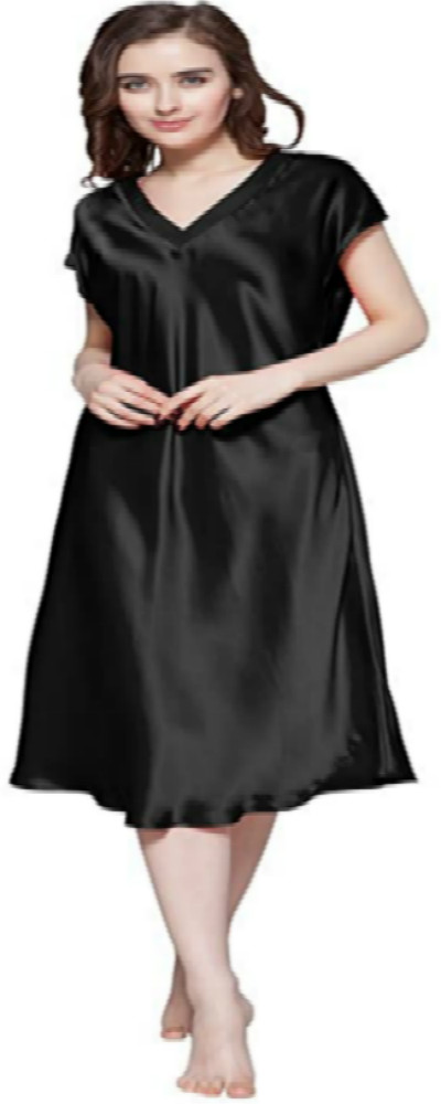 Black Nightgown Sleepwear