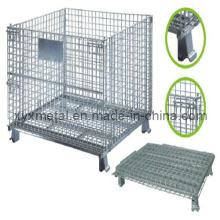 1.2X1.0m Zusammenklappbares Klapplager Logistik Trolley Roll Wire Mesh Lagerung Käfig