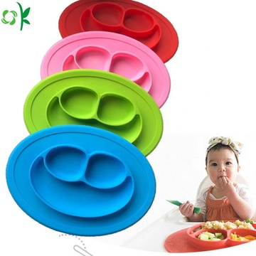 Grosir 100% Silicone Suction Plate dengan Smile