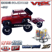 2015 new 1/10th 4WD Electric Mega Monster RC Model Car, Sword MT Brushless RTR With Jeep body and Tralier,