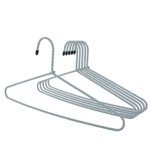 Colorful Fashionable Non Slip Clothing Rope Covered Shirt hanger  Metal Hangers with Braided Cord