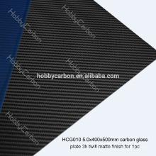 FPV Drone HCG010 Hohe Qualität 5,0x400x500mm Geriffelte Carbon Glas Twill Matte Platte / Blatt Preis Hersteller für Schneidemaschine