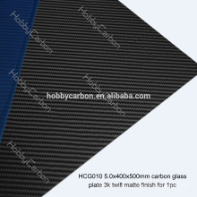 FPV Drone HCG010 High Quality 5.0x400x500mm Fluted Carbon Glass Twill Matte Plate/Sheet Price Manufacturer for Cutting Machine