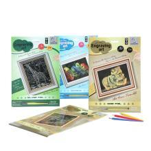 Arte de pintura la hoja juvenil provee tarjetas de rascar