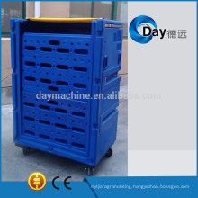 HM-1 PE plastic laundry trolley cart with plastic pad