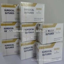 Suture chirurgicale Suture Catgut Chromique Suture Catgut ISO13485 & 9001