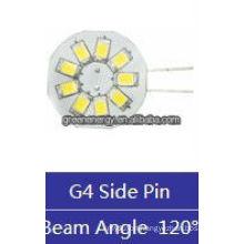 wafer G4 9leds 1.5W 12V AC/10-30V DC side pin/back pin