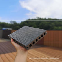 High quality deep embossing composite decking 140x25mm madera plastica from Shandong Yujie factory
