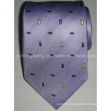 Corbata tejida de seda del telar jacquar de los hombres de encargo