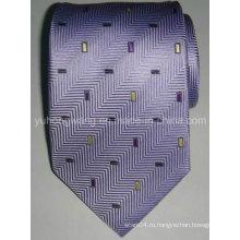 Пользовательские мужские шелковые тканые жаккардовые галстук